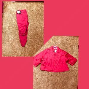 Other - Jacket and denim capri pants
